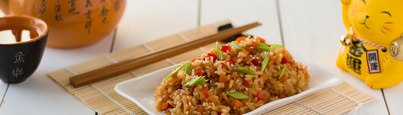Рис с овощами по-японски